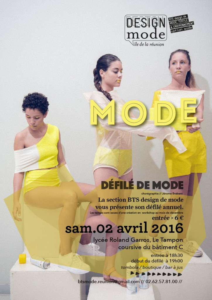 Affiche défilé de mode - BTS design de mode