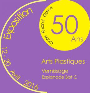 Affiche - Exposition Arts Plastiques pour les 50 ans