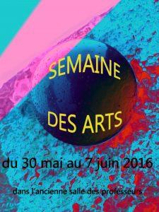 AFFICHE SEMAINE DES ARTS copie