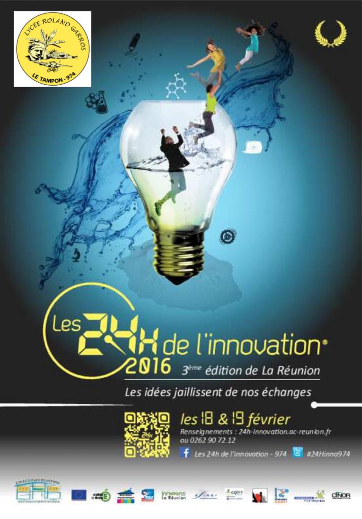 24h de l'innovation - Affiche 2016