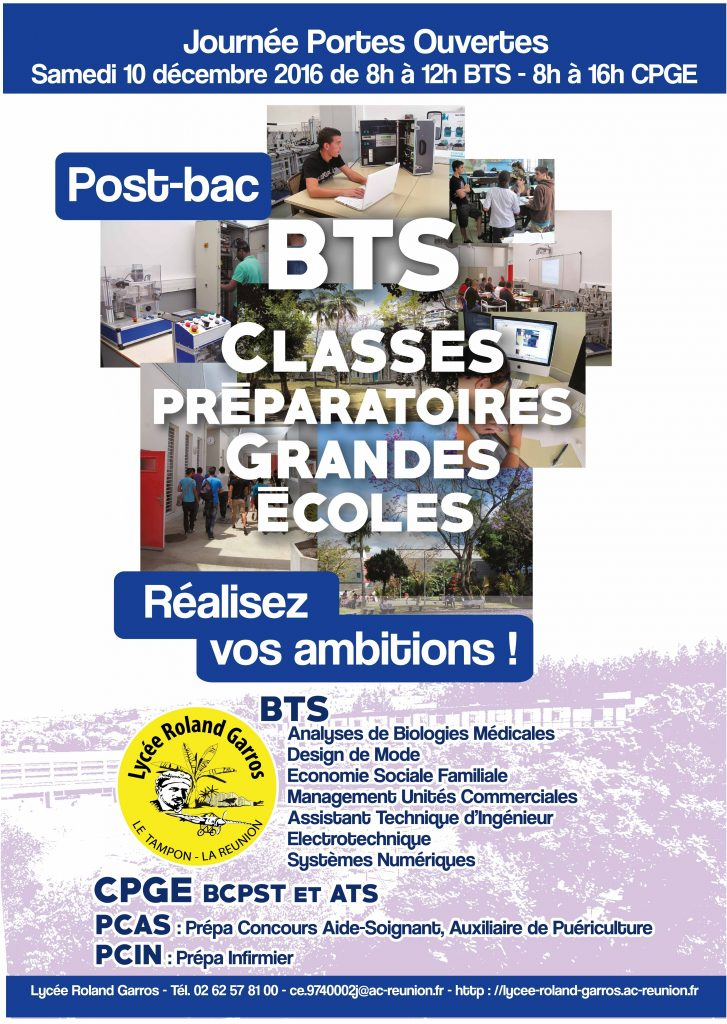 JPO Post-Bac - Affiche 2016